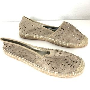 JustFab Tulina Slip On Shoes Espadrille Flats